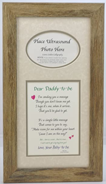Amazon daddy to be ultrasound picture frame 7x14 sonogram daddy to be ultrasound picture frame 7x14 sonogram gift dad father choose your mat negle Image collections