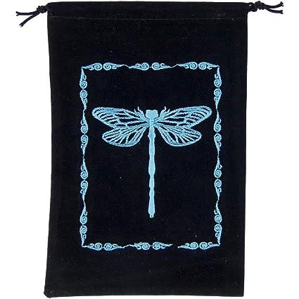 Amazon.com: Libélula Unlined Tarot bolsa de terciopelo negro ...