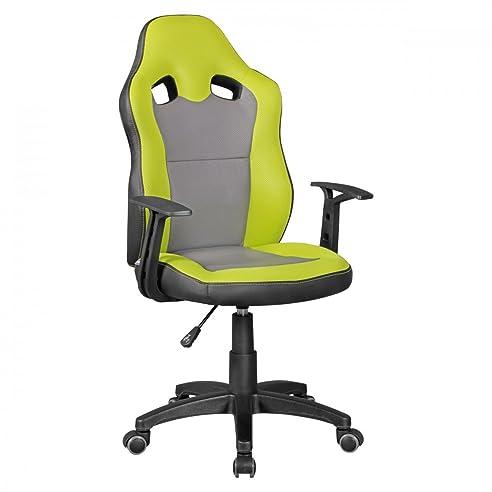 Kinderschreibtischstuhl grün  Amstyle Speedy Kinder-Schreibtischstuhl für Kinder ab 8, grün/grau ...