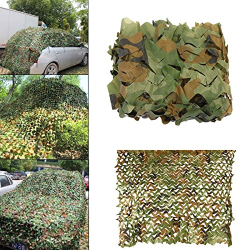 Disguise Earnings - 3mx3m Camouflage Net Car Cover Camping Military Hunting Shooting Hide - Profit Income Meshwork Final Lucre Reticulation Sack Take-Home - 1PCs