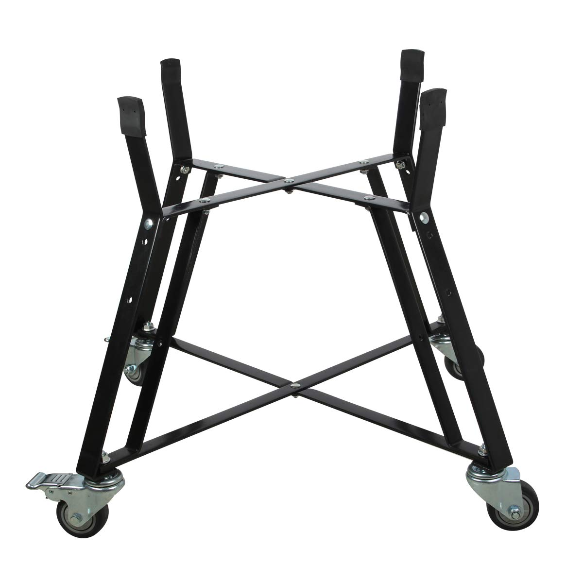 Big Green Egg Accessories Rolling Cart Nest for XLarge Big Green Egg Accessories,Big Green Egg Nest Stand Rolling Outdoor Cart Nest with Heavy Duty Locking Caster Wheels Powder Coated Steel by WRKAMA