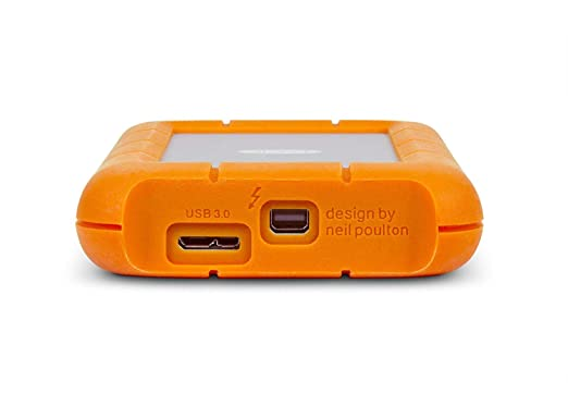 integrated T.Bolt cable Lacie 9000488 1TB Rugged USB3 /& Thunderbolt