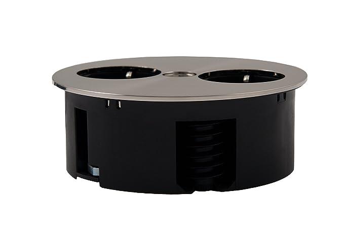 Bachmann TWIST 2S 2AC outlet(s) 2m Cromo base múltiple - Bases múltiples (Cromo, Negro, 115 x 40 mm, 2 m): Amazon.es: Bricolaje y herramientas