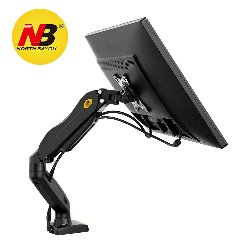 North Bayou Monitor Desk Mount Stand Full Motion Swivel Monitor Arm Gas Spring for 17