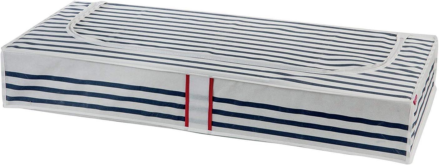 Printing by Machine Applicable Compactor Bleu Kasuri Extra Soporte de Debajo de la Cama Bolsa de Almacenamiento Polipropileno 107/x 46/x 16/cm Azul//Blanco Non-Woven 75G