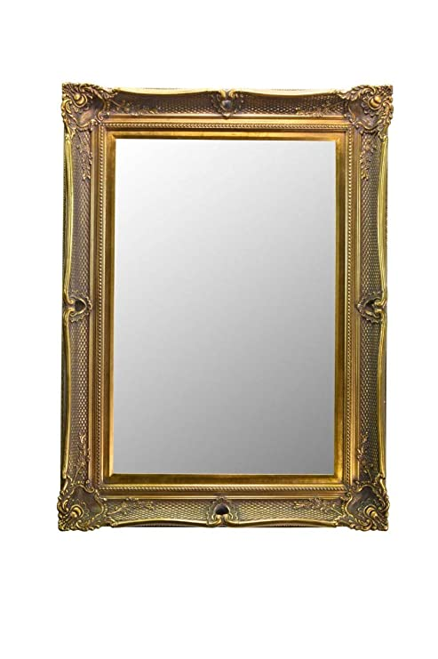 Fabulous Metallic Gold Victorian Antique Style Overmantle/specchio ...