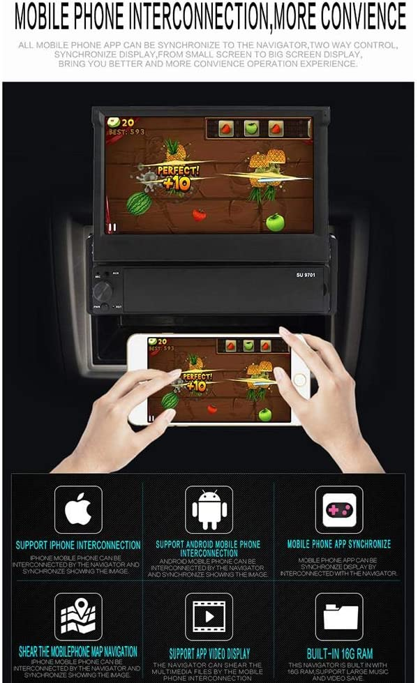 18 cm Touchscreen Bluetooth Ausfahrbarer Freisprecheinrichtung Ardentity Autoradio Bluetooth Touchscreen 1 DIN