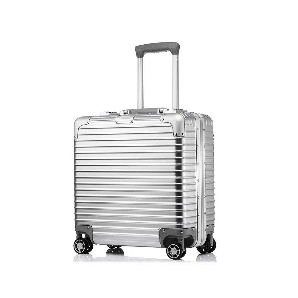 Uniwalker スーツケース 小型 超軽量 キャリーケース 【1年修理保証】 TSAロック 静音8輪 ビジネス キャリーバッグ 旅行 出張 機内持込可 B075HS44SS シルバー シルバー