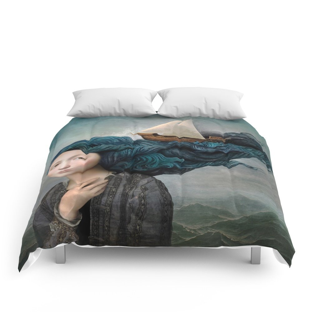 Society6 Message From The Sea Comforters Queen: 88'' x 88'' by Society6