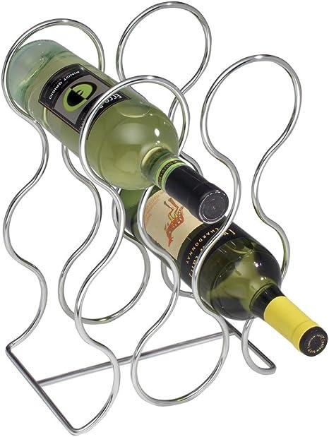 Moderne étagère à vin Porte-bouteille de rangement de 27 bouteilles en métal hauteur 100