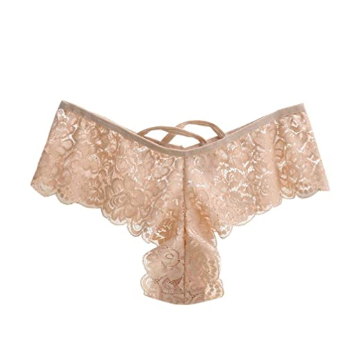 489f31b256 Image Unavailable. Image not available for. Color  Women Lace G-String Briefs  Sexy Lady Thongs Panties ...
