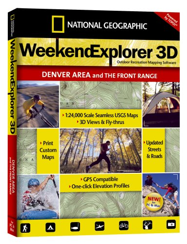 National Geographic TOPO! Weekend Explorer 3D (Denver Area and the Front Range)