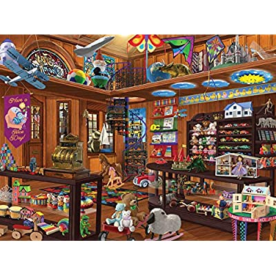 White Mountain Puzzles Toy Shop Seek and Find - 1000 Piece Jigsaw Puzzle: Toys & Games