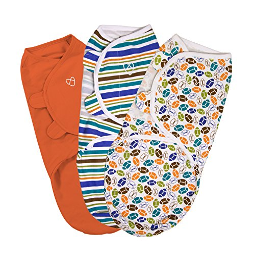 SwaddleMe Original Swaddle 3-PK, Touchdown (SM) by SwaddleMe