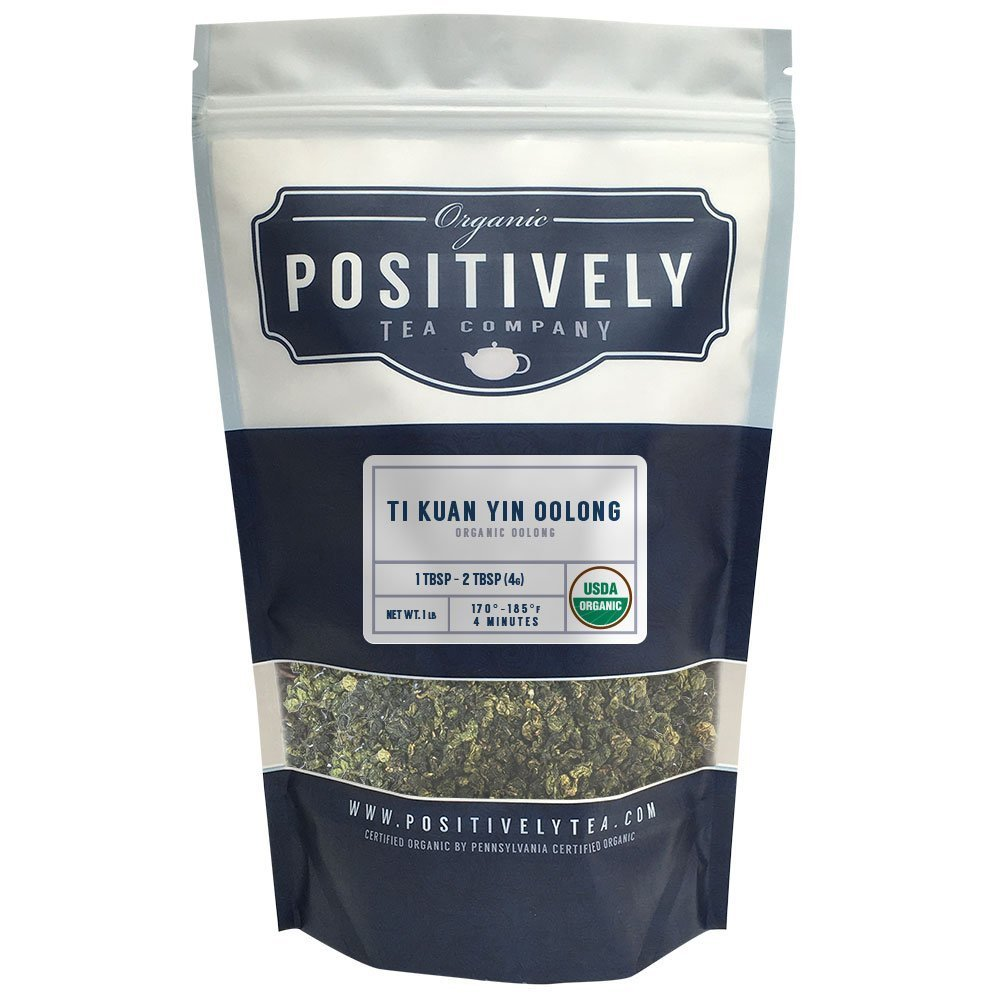 Positively Tea Company, Organic Ti Kuan Yin Oolong, Oolong Tea, Loose Leaf, USDA Organic, 1 Pound Bag by Organic Positively Tea Company