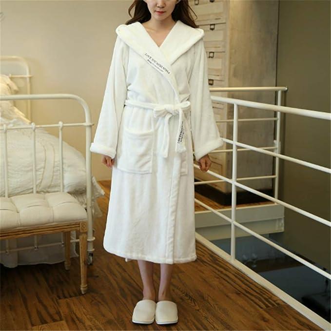 Mujeres Kimono Batas Algodón Ligero Bata Corta Tejido Albornoz Ropa de Dormir Suave con Cuello en V para baño,Albornoz Sexy de Color Liso para Enviar el pañuelo A-2 XL: Amazon.es: Hogar