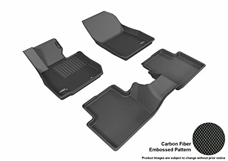 3D MAXpider L1MZ05101509 Complete Set Custom Fit All-Weather Floor Mat for Select Mazda CX-3 Models - Kagu Rubber (Black)