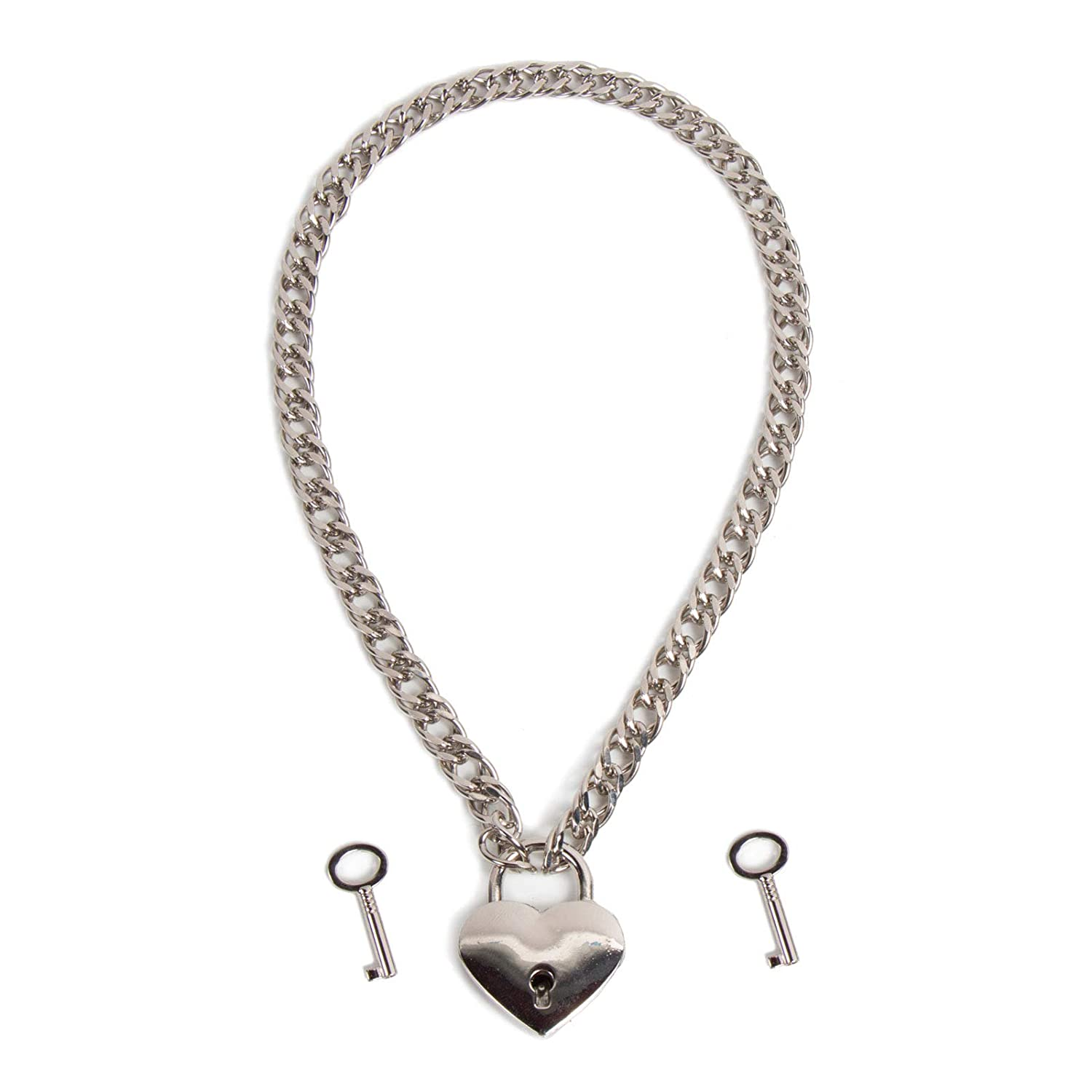 Amazon.com: Collar de cadena y candado de corazón: Clothing