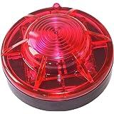 Roadside Flashing Flares Safety Warning Light Emergency LED Strobe Light with Magnetic Base Vehicle and Marine (Red)