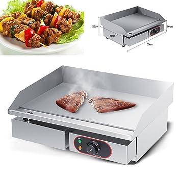 Yosoo - placa eléctrica de cocina, plancha, prensa para ...