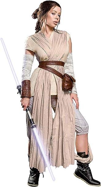 Disfraz de Rey Ladies para los fanáticos de Star Wars 10pcs Beige ...