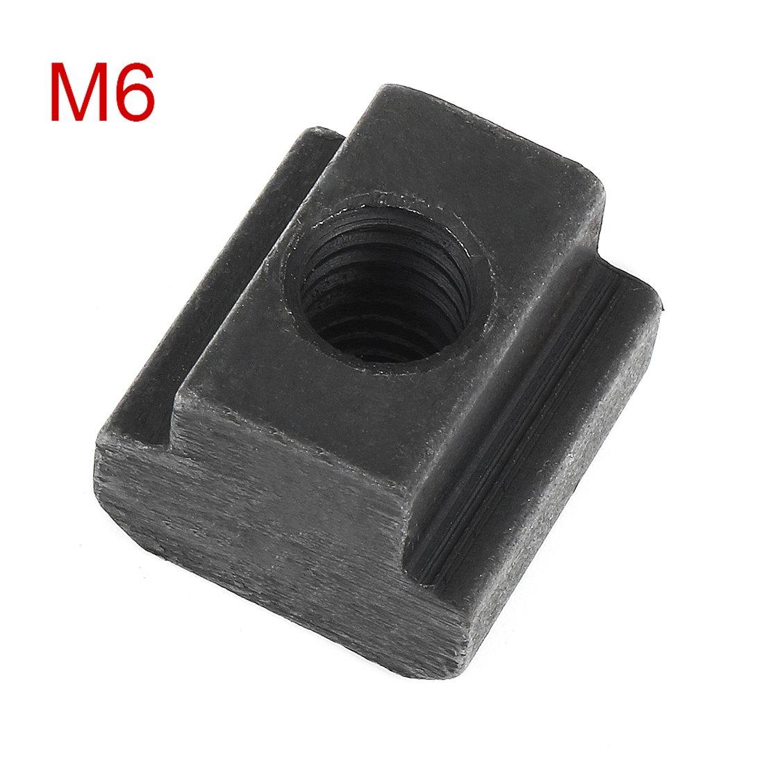 sourcingmap Filettatura Femmina M6 acciaio T-il dado a T per cava Grado 12.9 maschiato passante