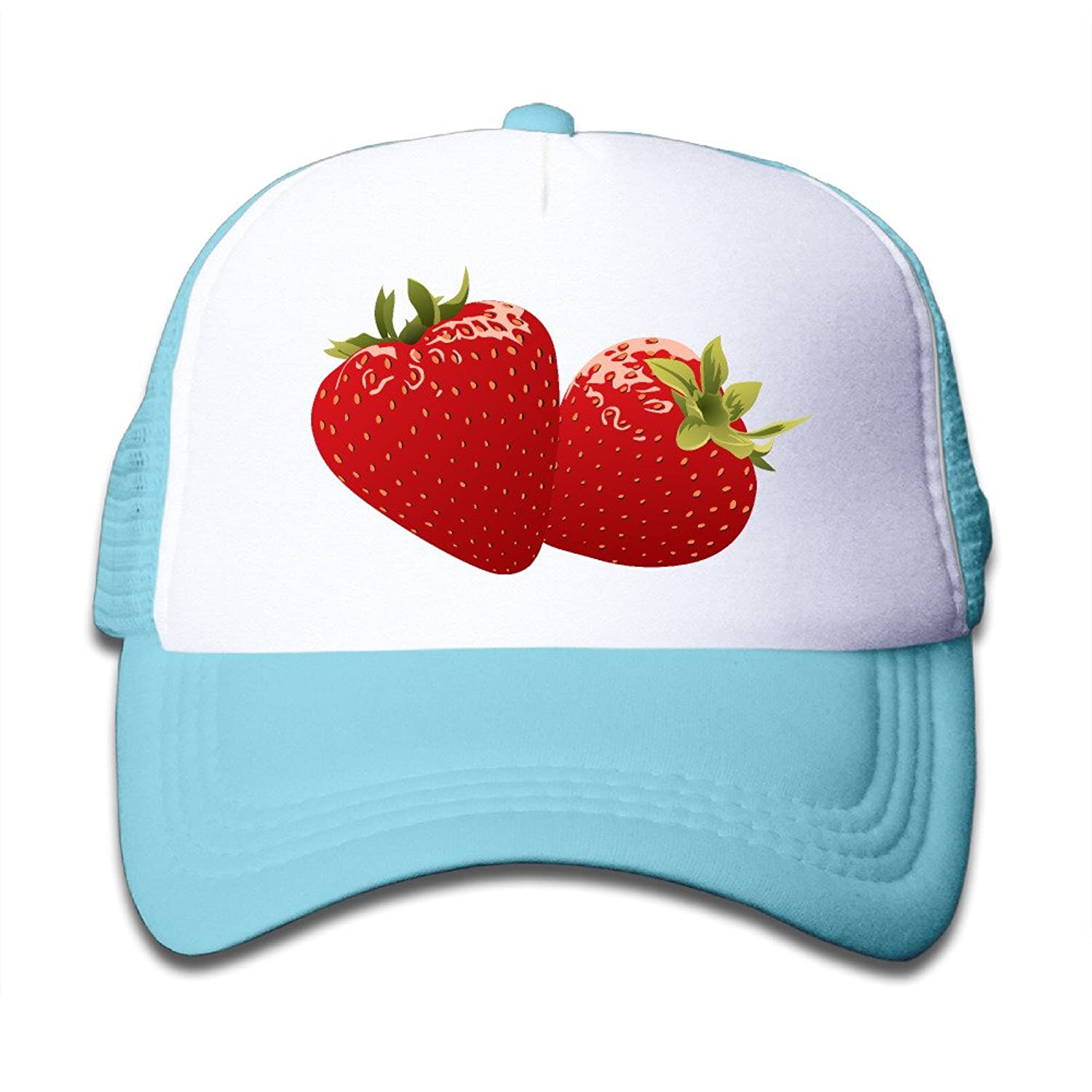 cheap Eqq Strawberry Fashion Toldder Kid's Cute Adjustable Mesh Cap Hats Travel School Cap