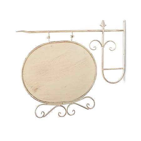 Antikas - rótulo de forma oval con soporte para la pared ...