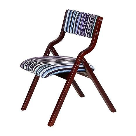Amazon.com: Plegar silla de sillas mesa de comedor simple ...