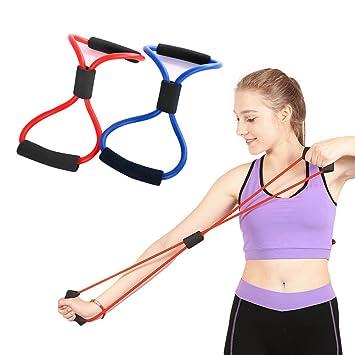 odowalker banda de ejercicio 8 tipo cuerda de bandas de resistencia tubo entrenamiento Fashion cuerpo edificio
