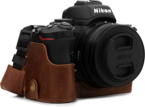 MegaGear MG1812 Ever Ready - Funda de Piel para cámara Nikon Z50, Color marrón: Amazon.es: Electrónica