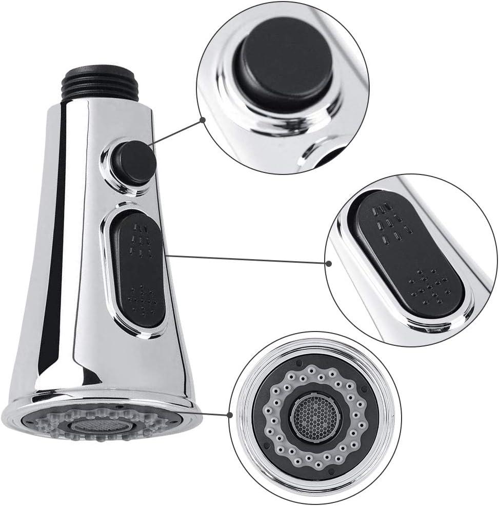 Grey Kitchen Tap Spray Head Anti-Splash G 1//2 Faucet Sprayer Head Water Saving Spray Head Faucet Chrome Finished Kitchen Tap Sprayer Head Replacement with Control Button for Kitchen Bathroom