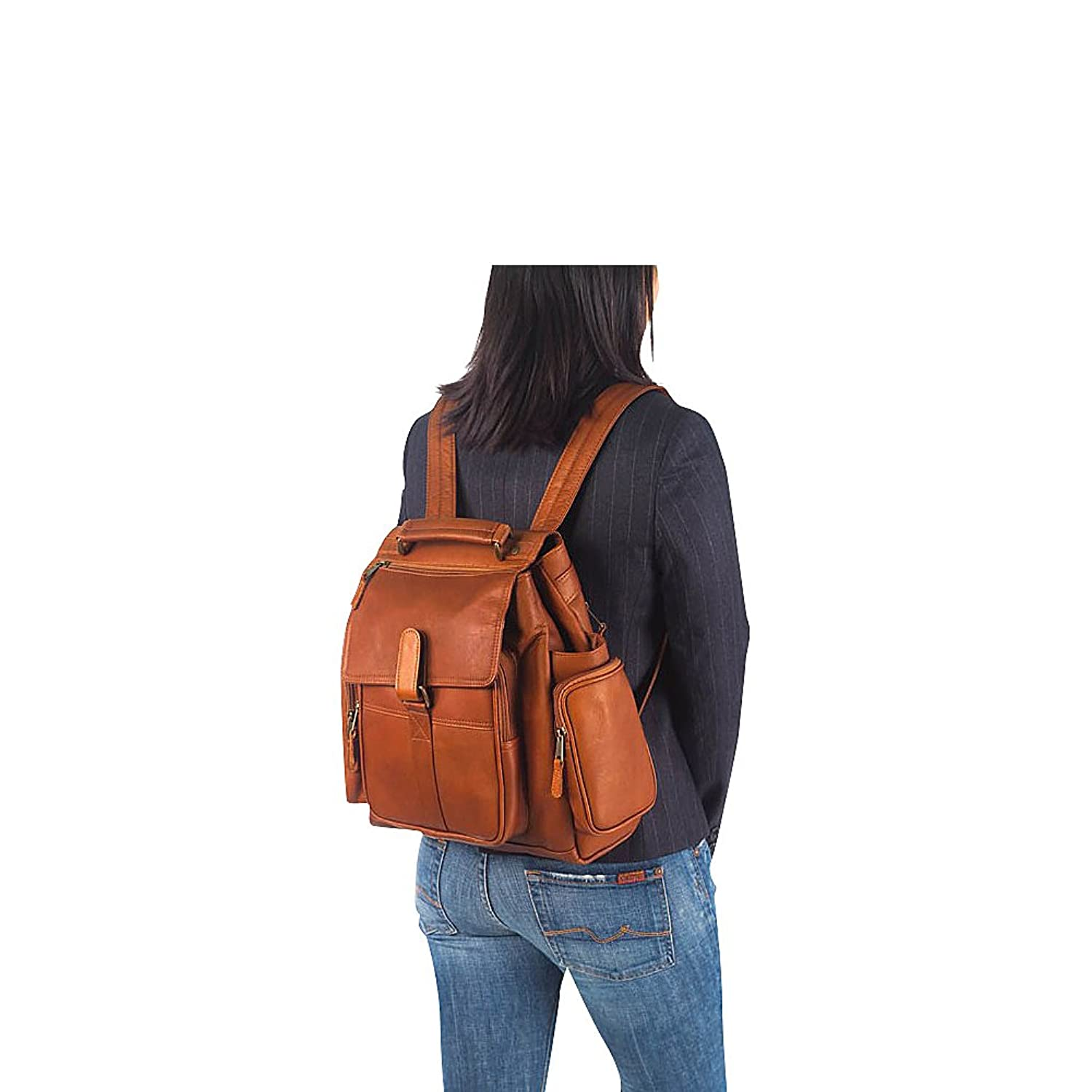 Amazon.com | Clava Vachetta Leather Urban Survival Backpack ...