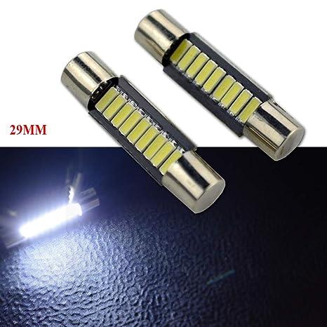 Ruiandsion - Bombillas LED Festoon de 29 mm, 12 V CC, 4014, 9