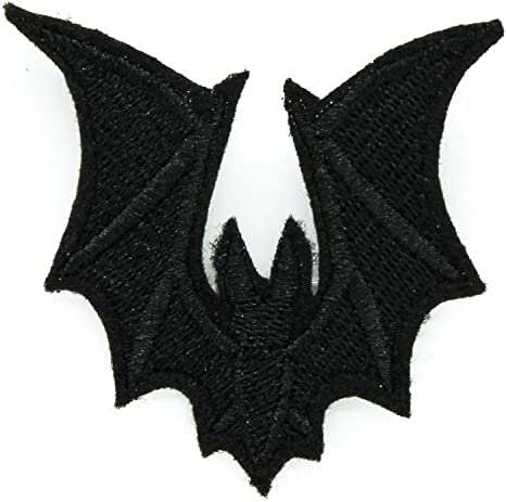 Embroidered Bat Patch Badge Iron Sew On Clothes Bag Halloween Crafts Decoration