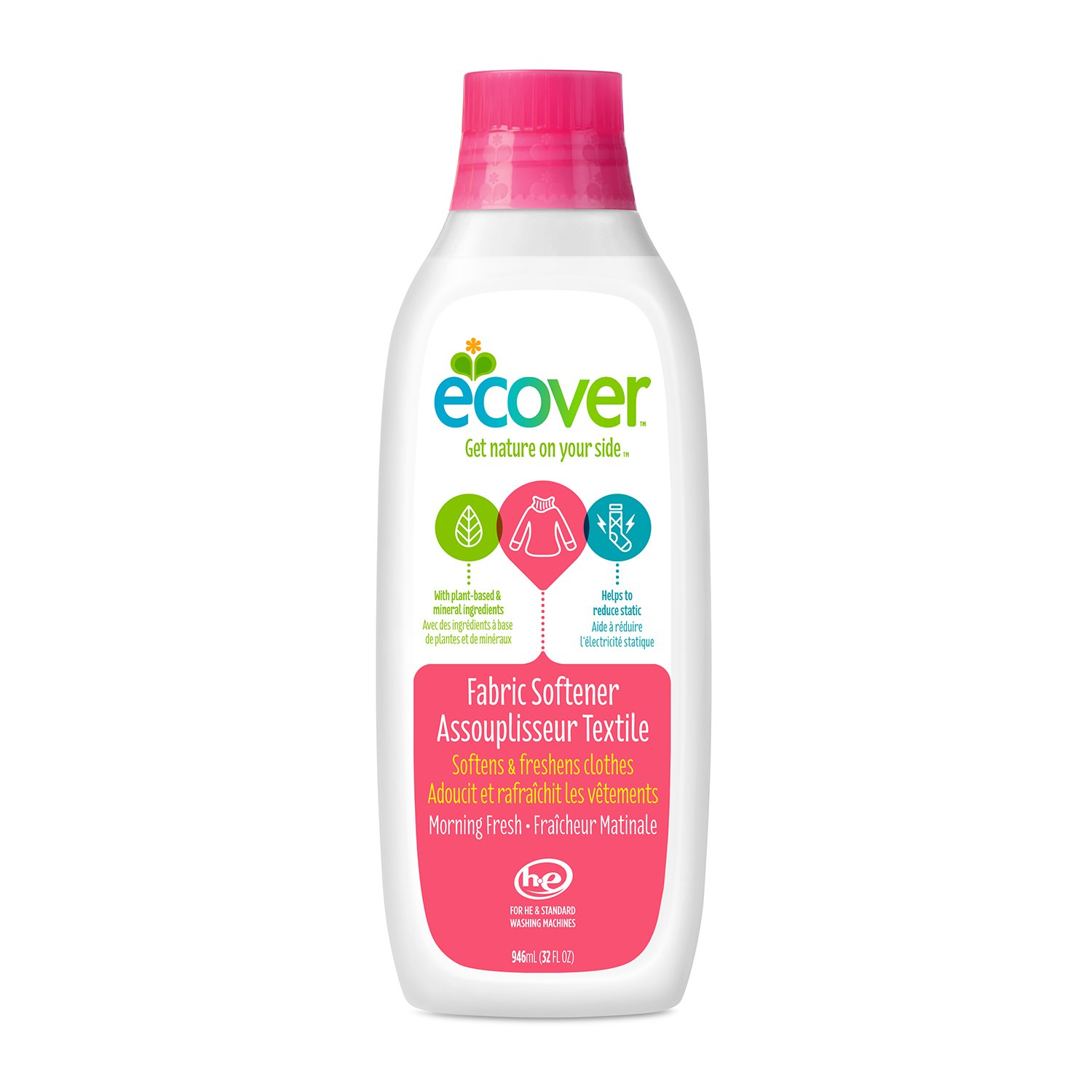 Ecover Fabric Softener, 32-Ounce Bottle (Pack of 6)