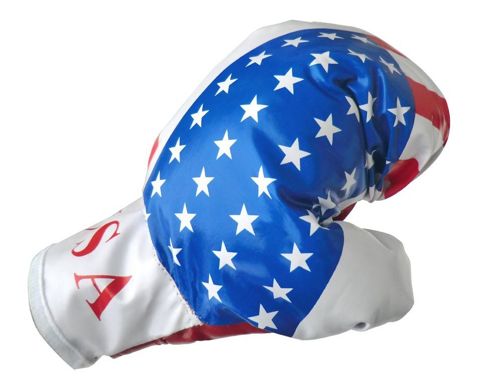 HIGH QUALITY BOXE SET WITH AMERICAN FLAG GLOVES CHILD BAG 3+ GIFT IDEA