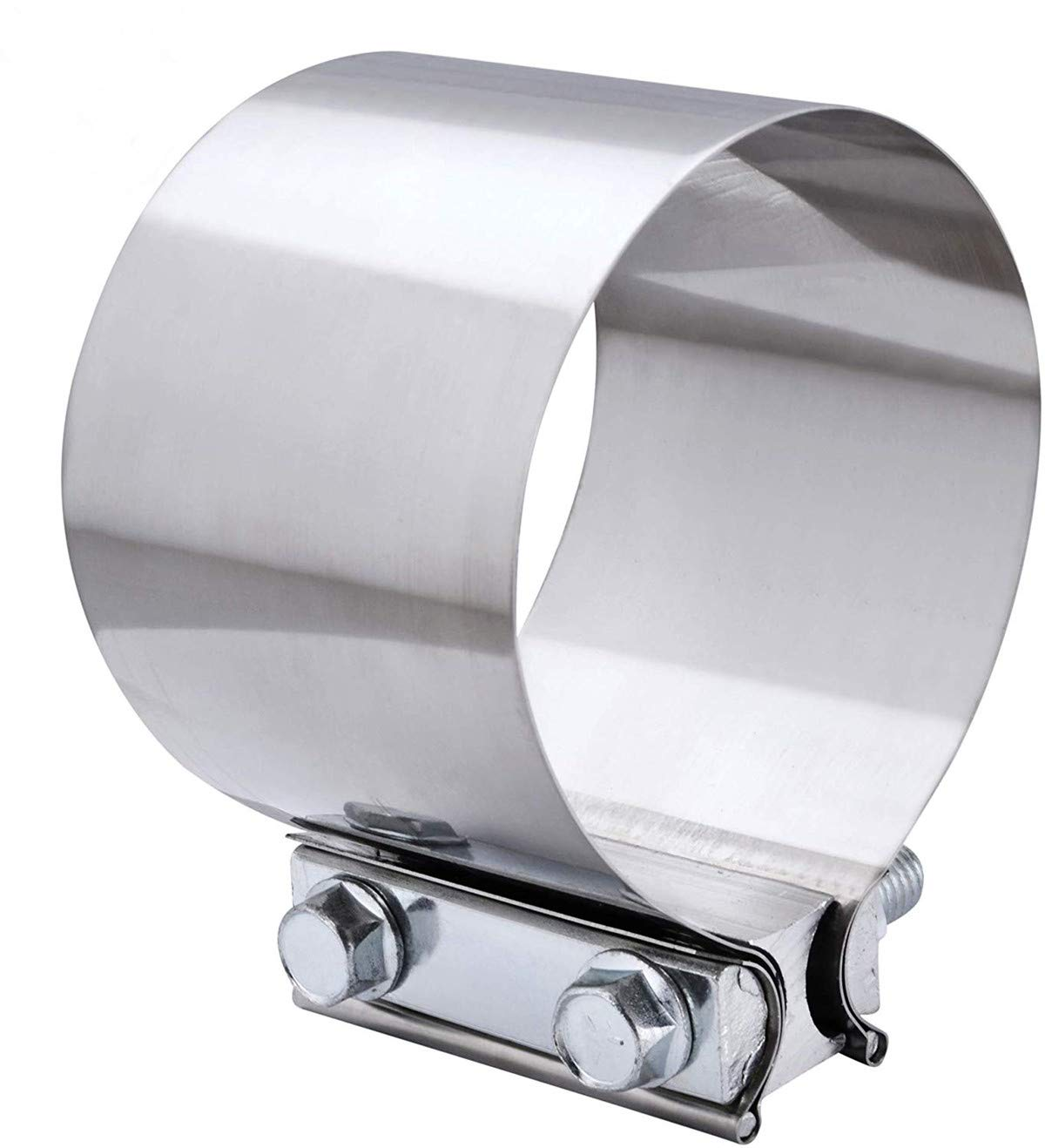 EVIL ENERGY 4.0 Inch Butt Joint Exhaust Band Clamp Sleeve Stainless Steel 2pcs