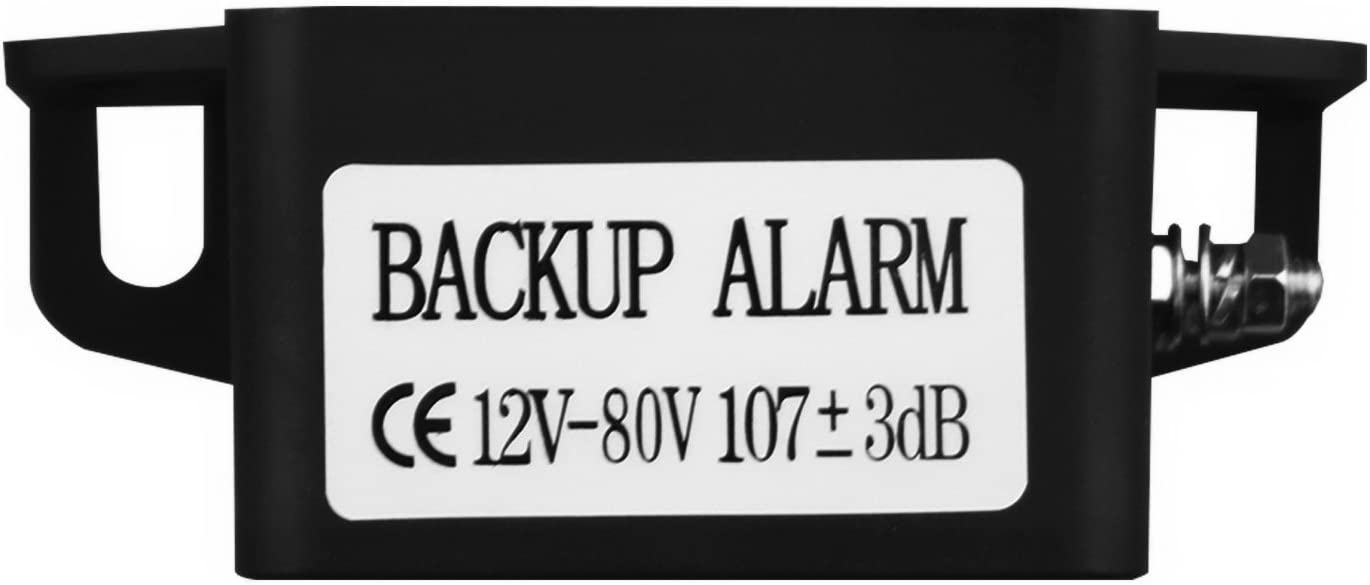 GAMPRO 12V-80V 107dB Waterproof Heavy-Duty Backup Warning Alarm with Super Loud Beeper Tone for Truck Van Freight Car Lorry Heavy Vehicles /… 6FD