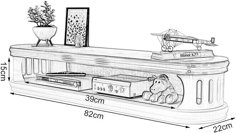 MKJYDM Marco de Pared Decorativo Soporte for televisor Gabinete de Entretenimiento Unidad de Almacenamiento Reproductor de DVD Caja de Cable Estante Flotante Estante de Montaje en Pared: Amazon.es: Hogar