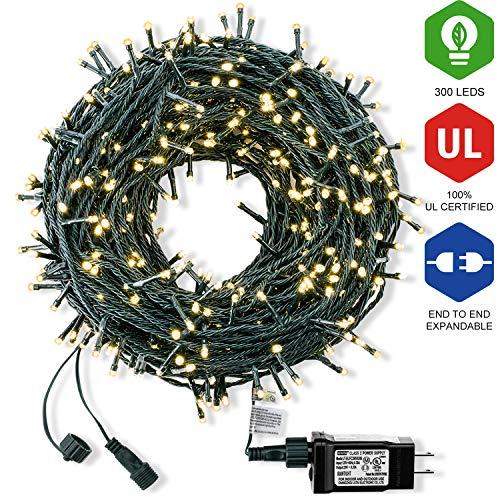 Bestalent Christmas String Lights 300 LED 104ft,Warm Light