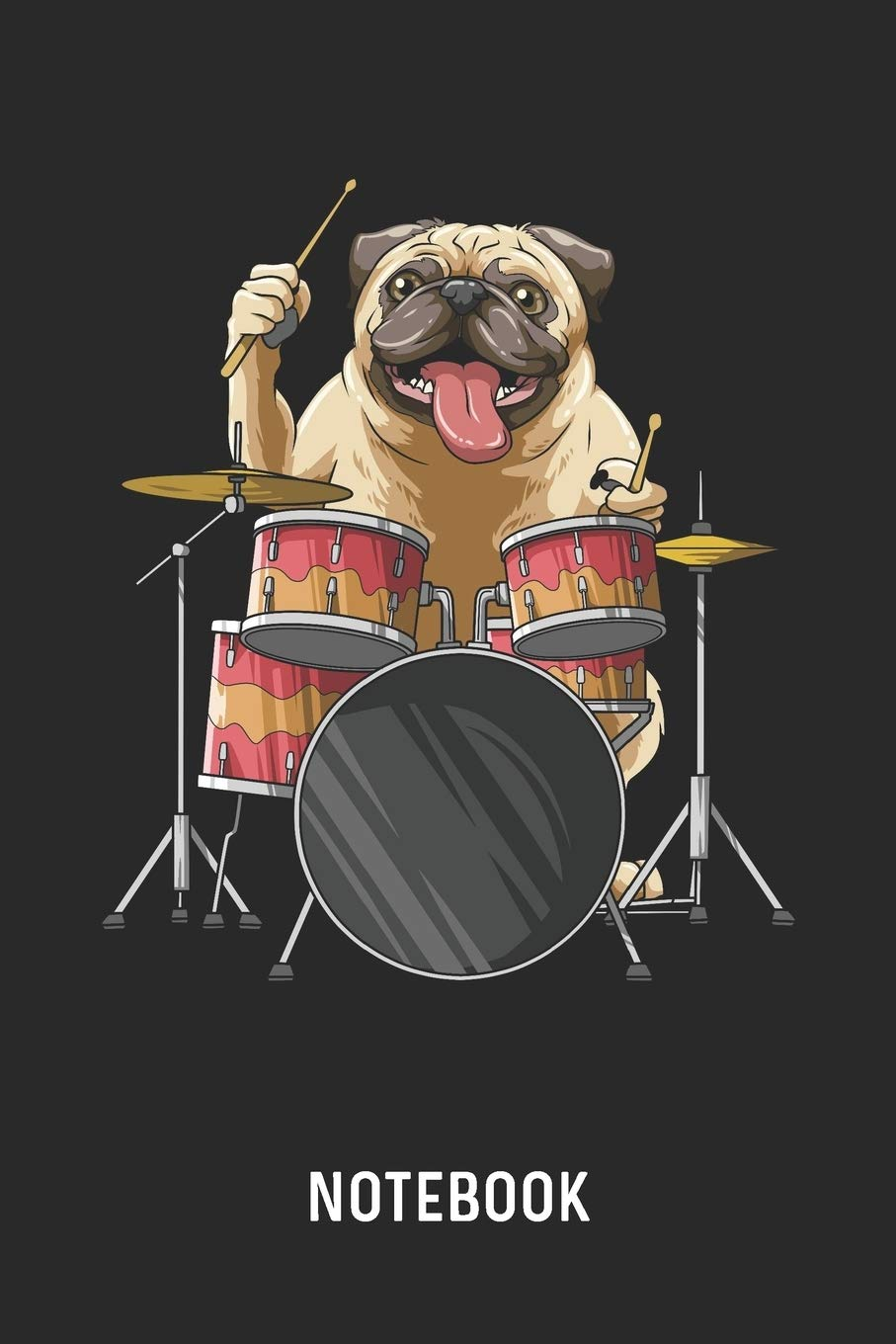 Notebook Blank Dotted Pug Playing Drums Journal 6 X 9 For Every Dog Owner And Drummer Publishing Cadieco 9781087441252 Amazon Com Books