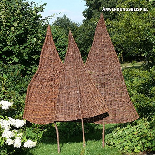 videx sichtschutz weidenbaum natur gross ca b 110cm x h 240cm davon 95cm stamm amazon de garten