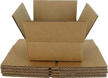 5) marrón cartón cajas de transporte de almacenamiento de CD ...