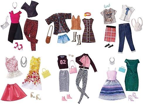 Barbie - Pack 2 Vestidos y Accesorios (Mattel FCT81): Juguetes y juegos - Amazon.es