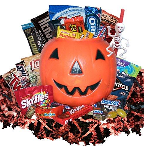 Yummy Halloween candy Gift Basket