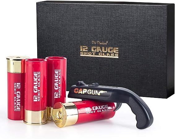 12 Gauge Shot Glasses with bottle opener
