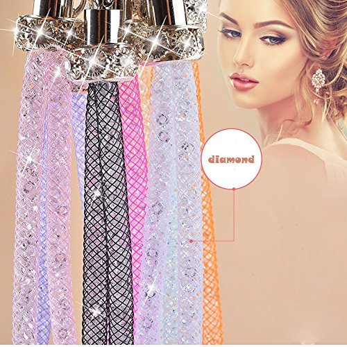 Hand Grip Lanyard, Crystal Hand Wrist Strap Attaches for Cameras, Phones, Media Players, PSP, USB Thumb Drives, Keys (10'' 7 Pack in 7 Assorted Colors)