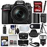 Nikon D7500 Wi-Fi 4K Digital SLR Camera & 16-80mm VR DX Lens with 64GB Card + Case + Flash + Battery & Charger + Tripod + Filters Kit
