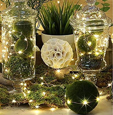 Solar String Lights,BMOUO® 100 LEDs Outdoor/Indoor Starry String Lights,Waterproof Solar Fairy String Lights Copper Wire Ambiance Lighting for Landscape Gardens Homes Christmas Party (33ft Warm White)